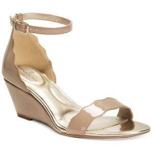 Bandolino Opali Scalloped Wedge Sandals size 8.5